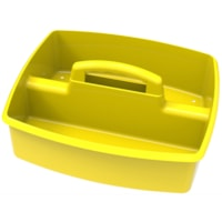 Storex Large 2-Compartment Storage/Organizing Caddy, Yellow