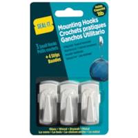 Crochets amovibles Seal-It, petit format, capacité de 1 lb chacun, emb. de 3