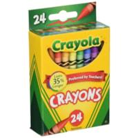 Crayola Crayons, Assorted Colours, 24/PK