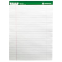 Grand & Toy Micro-Perforated Letter-Size Business Pads, White with Wide Rule, 8 1/2