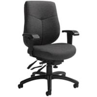 Global Aurora Mid-Back Multi-Tilter Chair, Granite Rock Grey Urban Fabric Seat/Back