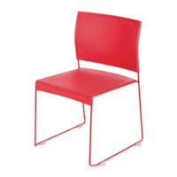 Safco Currant High-Density Stacking Guest Chair, Red, 4/CT