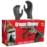 Gants en nitrile jetables Grease Monkey Watson Gloves, 5 mils, TTG, noir, boîte de 100