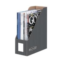 Porte-revues Bankers Box, format lettre, motif à très fines rayures, emb. de 6