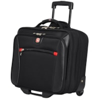 SwissGear 2-in-1 Wheeled Laptop Case, Black, Fits Laptops up to 17.3
