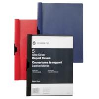 Couvertures de présentation en poly à pince latérale Grand & Toy, bleu, format lettre, emb. de 5
