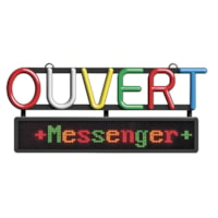 Open Sign With Scrolling Messenger