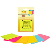 Post-it Super Sticky Full Stick Notes, Assorted Colours, 6/PK
