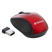 Mini souris optique de voyage sans fil Verbatim, rouge (97540)