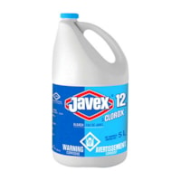 Clorox Javex 12 Bleach, 5 L, 3/CS
