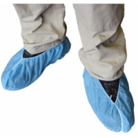 Globe Commercial Products Slip-Resistant Shoe Covers, Blue, Large, 100/PK