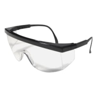 Dentec Ferno Safety Glasses, Black Frame/Clear Lens