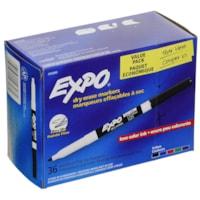 Marqueurs effaçables à sec à faible odeur Expo, pointe fine, emb. de 36