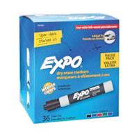 Marqueur effaçable à sec à faible odeur Expo - pointe biseautée