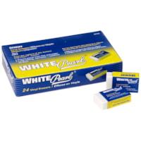 Dixon White Pearl Vinyl Block Erasers, 24/BX