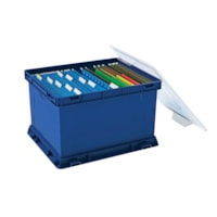 Storex Storage Cube (Tote) with Clear Lid