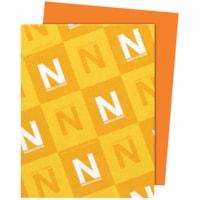 Papier Astrobrights Neenah, orange orbite, format lettre, certifié FSC et Green Seal, 24 lb, rame