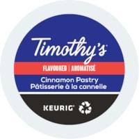 Dosettes K-Cup de café Timothy's, aromatisé Pâtisserie à la cannelle, boîte de 24