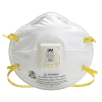 3M 8210V N95 Disposable Particulate Respirator, Valved, White, 10/BX