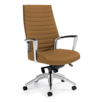 Global Accord High-Back Knee-Tilter Chair, Cookie Allante-FRee Vinyl Fabric