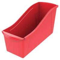 Bac de rangement pour livres Storex, rouge, grand format