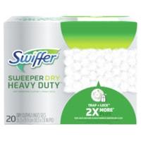Recharges de linges secs Sweeper Dry Heavy-Duty Swiffer, boîte de 20