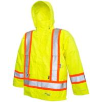Veste de sécurité professionnelle Journeyman 300D jaune fluorescent de grande taille Viking