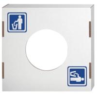 Couvercles pour bacs à déchets et de recyclage Bankers Box, déchets, caisse de 10