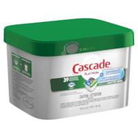 Cascade Platinum Dishwasher Detergent ActionPacs, Fresh Scent, 39/PK