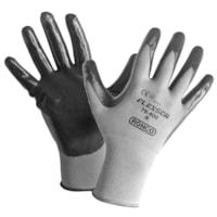 Ronco Flexsor Nitrile Palm Coated Gloves, Medium, Grey/Grey Wrist, 12 Pairs/PK