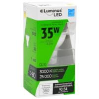 Ampoule à DEL LuminusLED, GU10, 4,5W, intensité réglable, blanc chaud, emb. de 1