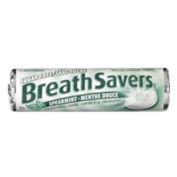 BreathSavers Mints, Peppermint, Spearmint, 22 g/Roll, 18 Rolls/PK
