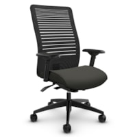 Global Loover High-Back Synchro-Tilter Office Chair, Ironwork Grey, Terrace Fabric