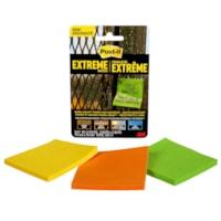 Feuillets Extrême Post-it, vert/jaune/orange, 3 po x 3 po, blocs de 45 feuillets, emb. de 3