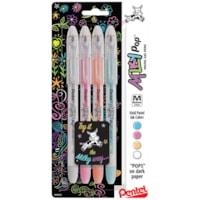 Pentel Milky Pop Pastel Gel Pens, Assorted Colours, Medium 0.8 mm, 4/PK