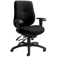 Global Aurora Mid-Back Multi-Tilter Chair, Black Coal Urban Fabric Seat/Back