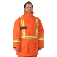Firewall CSA Approved High-Visibility Orange Large Insulated Parka