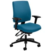 Global G1 Ergo Select Multi-Tilter Chair, Mid-Back, Blue, Terrace Fabric