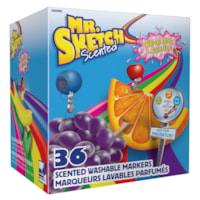Mr. Sketch Scented Chisel-Tip Washable Markers, Assorted Colours, Classroom 36/Pack