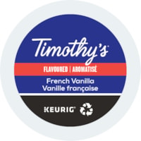Timothy's Single-Serve Coffee K-Cup Pods, French Vanilla Flavoured, 24/BX