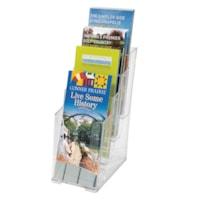 Grand & Toy DocuHolder, Clear, Multi-Pocket for Leaflets, 4 Tier