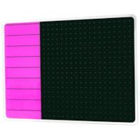 Tableau magnétique effaçable à sec en verre Glacier Viztex, planificateur et notes, violet et noir, 17 po x 23 po