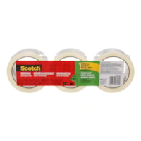 Scotch Tough Grip Transparent Moving and Packaging Tape, 3/PK