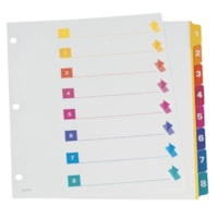 Oxford Colour-Coded Numbered Tab Dividers