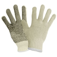 RONCO POLY/COTTON STRING KNIT GLOVES WITH PVC DOTS