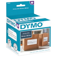DYMO LabelWriter Shipping Thermal Labels, White, 2 1/8