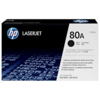HP 80A Black Standard Yield Toner Cartridge (CF280A)