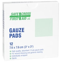 Tampons de gaze stériles SAFECROSS