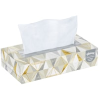 Kleenex 2-Ply Flat Box Facial Tissue, White, 125 Sheets/BX, 12/CT
