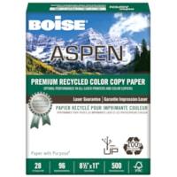 Boise Aspen Premium Recycled Colour Copy Paper, 28 lb., Letter-Size, Ream